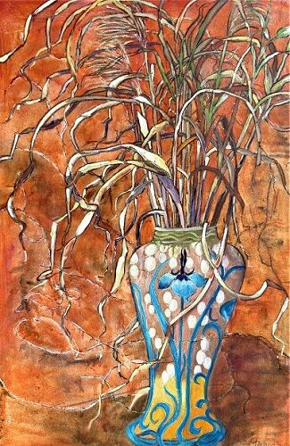 The Majolica Vase 90x60x4cm.