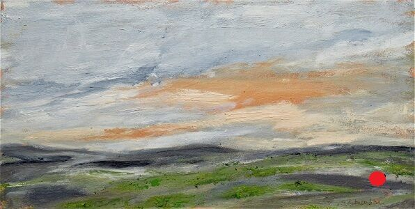 Soft Pink Clouds -Evening 30x60x4