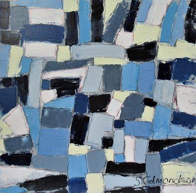 Blue Patches 60x60cm.