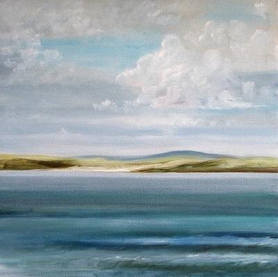 Cornish Coast                                                                60 x 60 cm.