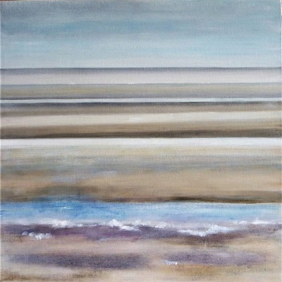 Ebbing Tide Camber Sands                                                60x60 cm.