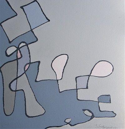 Find Me 40x40 cm. acrylic on canvas