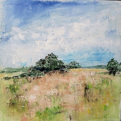 Hampshire  -Wild Meadow  60 x 60 cm.