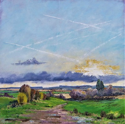 Hampshire January                               70x70 cm.
