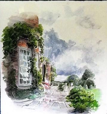 Hinton Ampner South Terrace 52x57