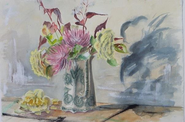 Roses and Dahlias 40x57