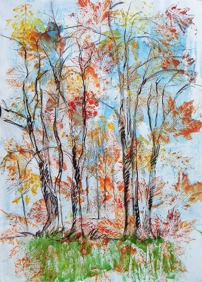 Falling Leaves 80x60