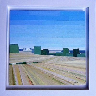 October Ready for Ploughing. 42 x 43 cm