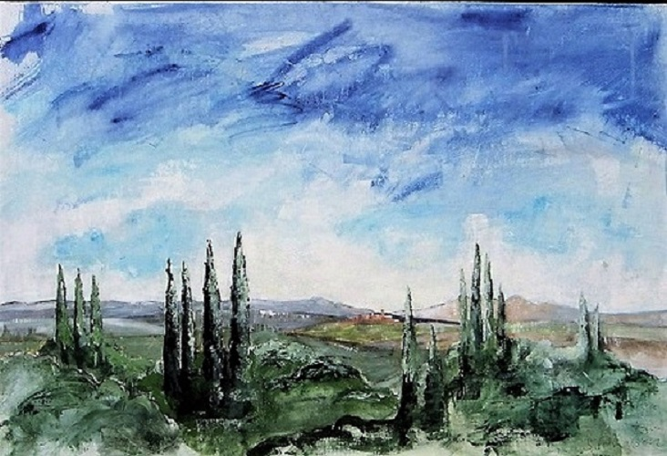 Tuscany Remembered 90x60cm.
