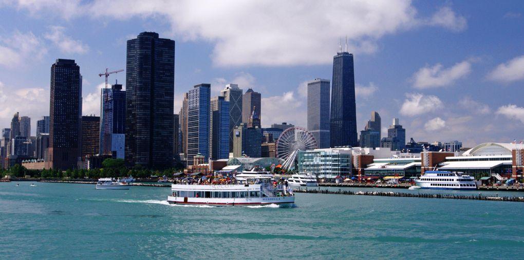 Ferry to Navy Pier - Chicago