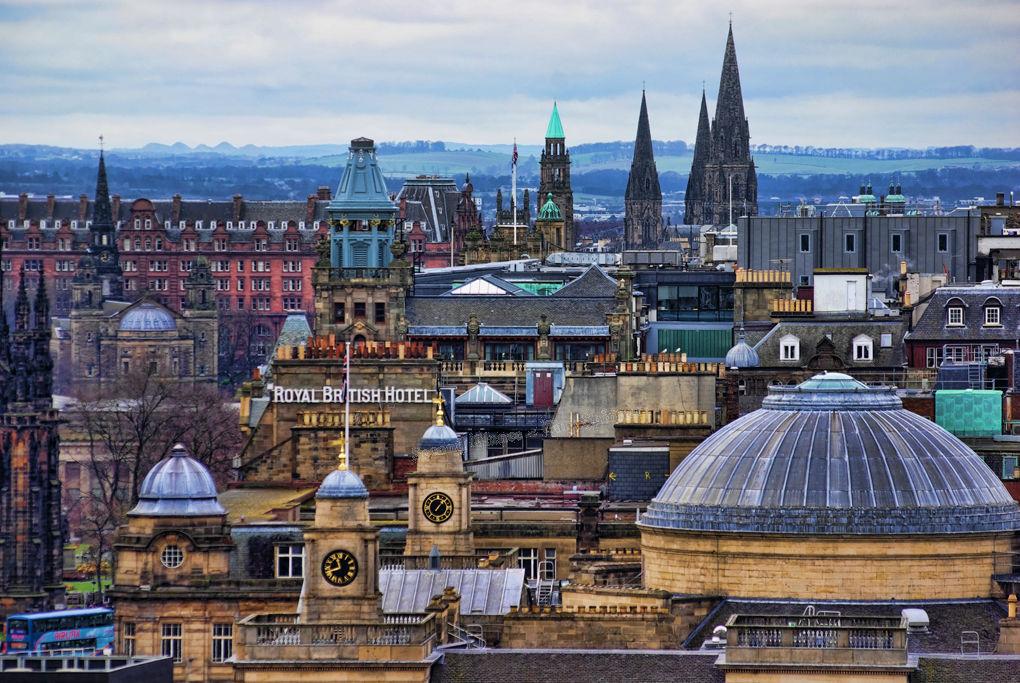 Edinburgh roof tops