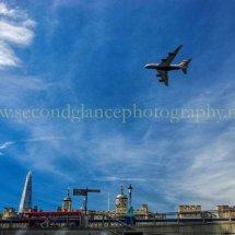 Flying over iconic Skyline
