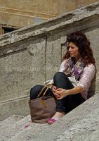 Spanish Steps Lady