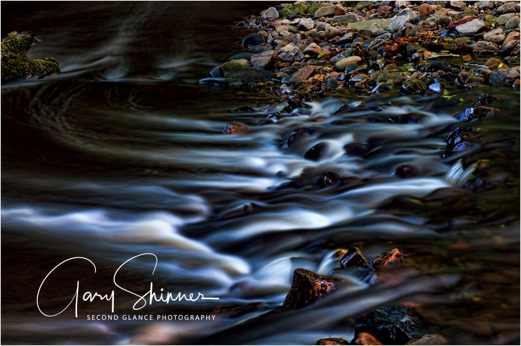 Gentle flowing water