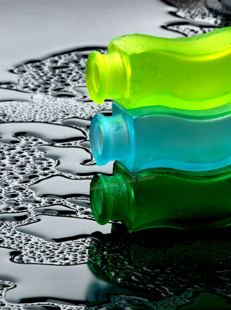 Glass Bottles & water droplets No.1