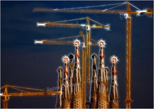 Heavenly Lift - Sagrada Familia