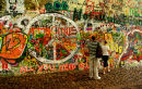 John Lennon Grafitti Wall Prague