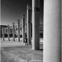 Man and Pillars