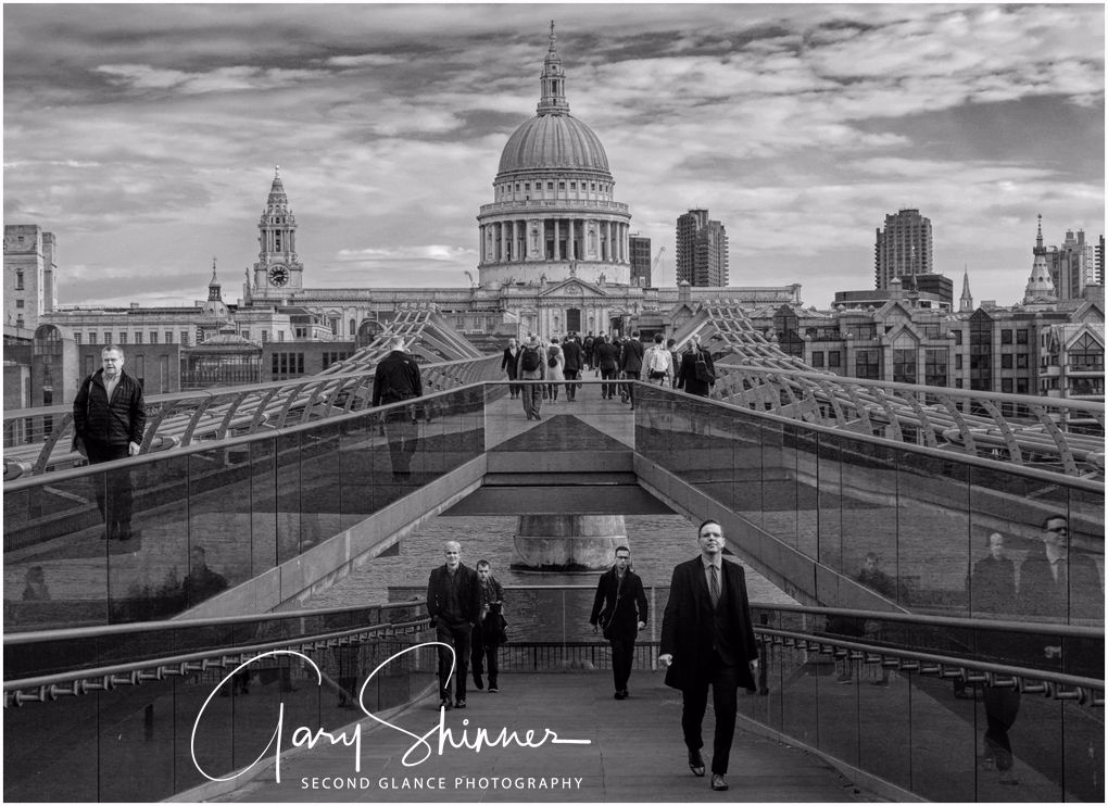 Millennium Bridge London No2 - Mono