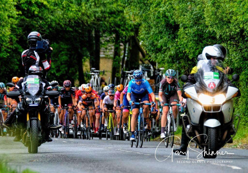 OVO Ladies Cycling on B4317 Pontyates to Carway hill