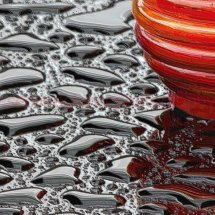 Red Glass Black water Plastic wrap