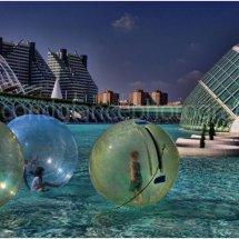Spheres city Scape