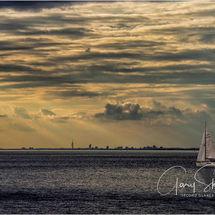 Sundown sailing in the Solent