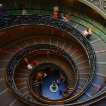 The Vatican exit stairs