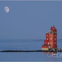 The red lighthouse of Kjeungskjaer