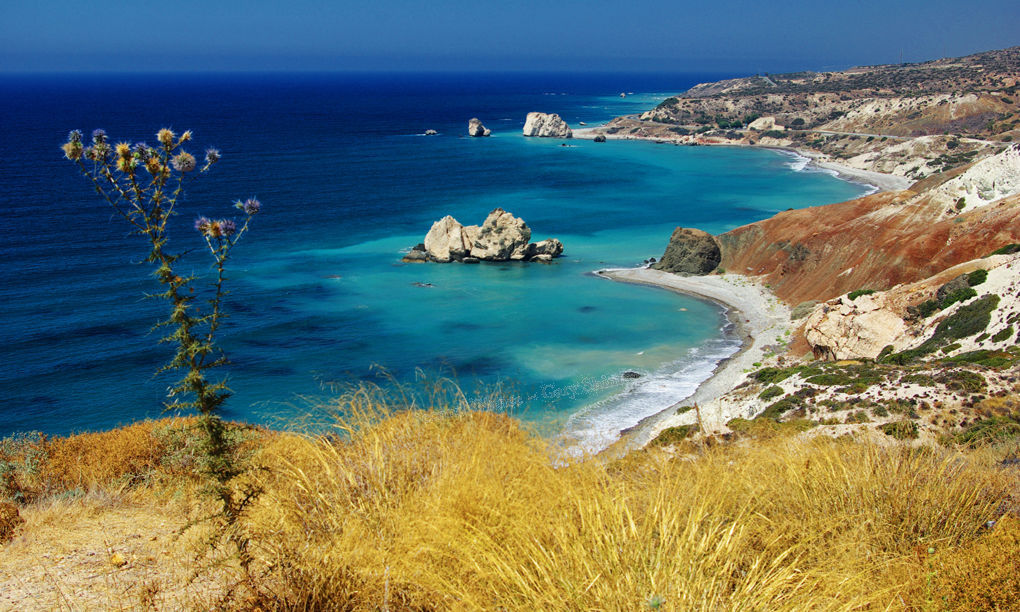 View of Aphrodities bay Cyprus