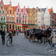 Winter time at the Square Bruges