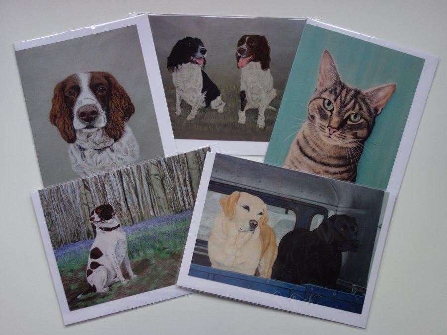Pet Portrait Art Cards