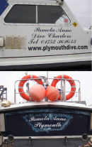 We have done varied boat lettering for all types of boats and marine crafts including jet ski's.