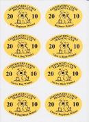 Goonhavern Canine Training Club Award Stickers.