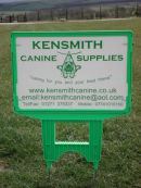 Ken Smith Canine Supplies Directional Sign.