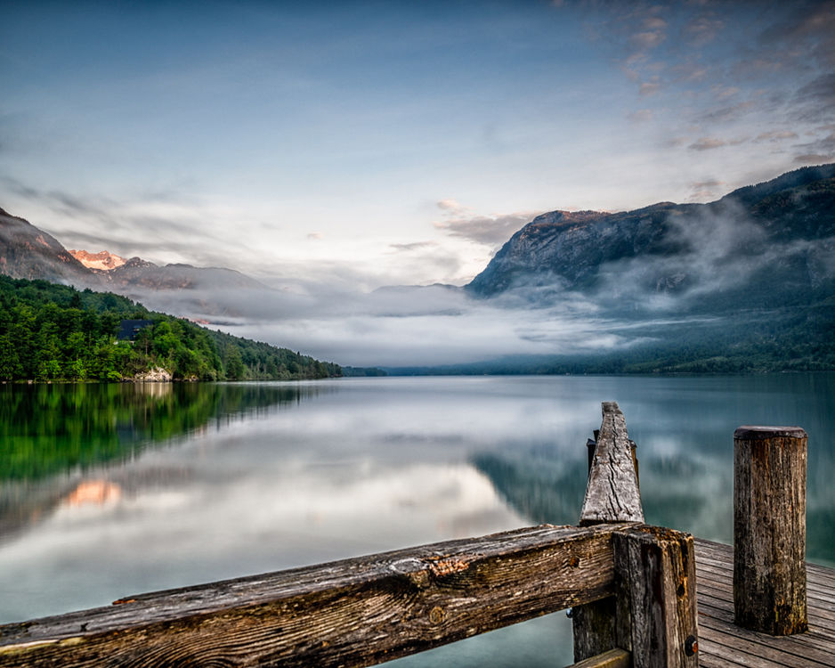 Mist on Lake Behind