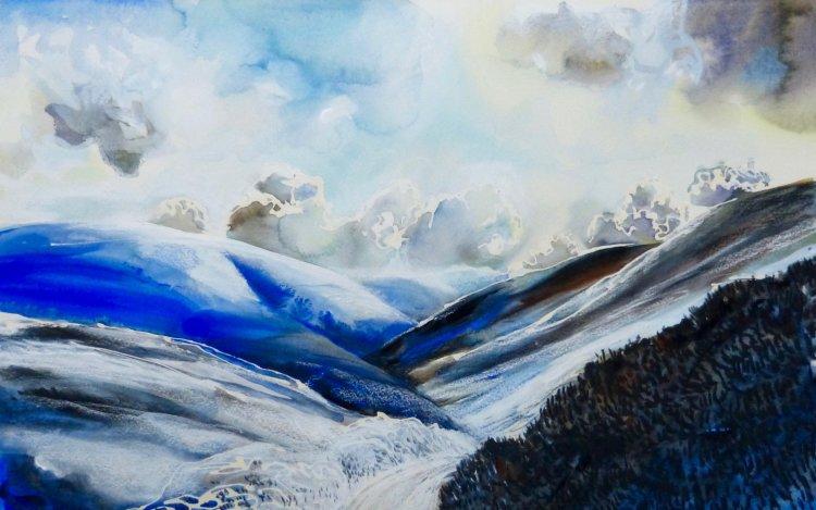 Mennock Pass, Winter