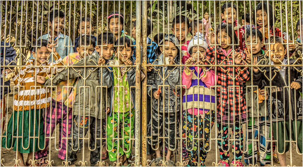 At The School Gates - Burma