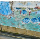 Cyclist and Wall Art