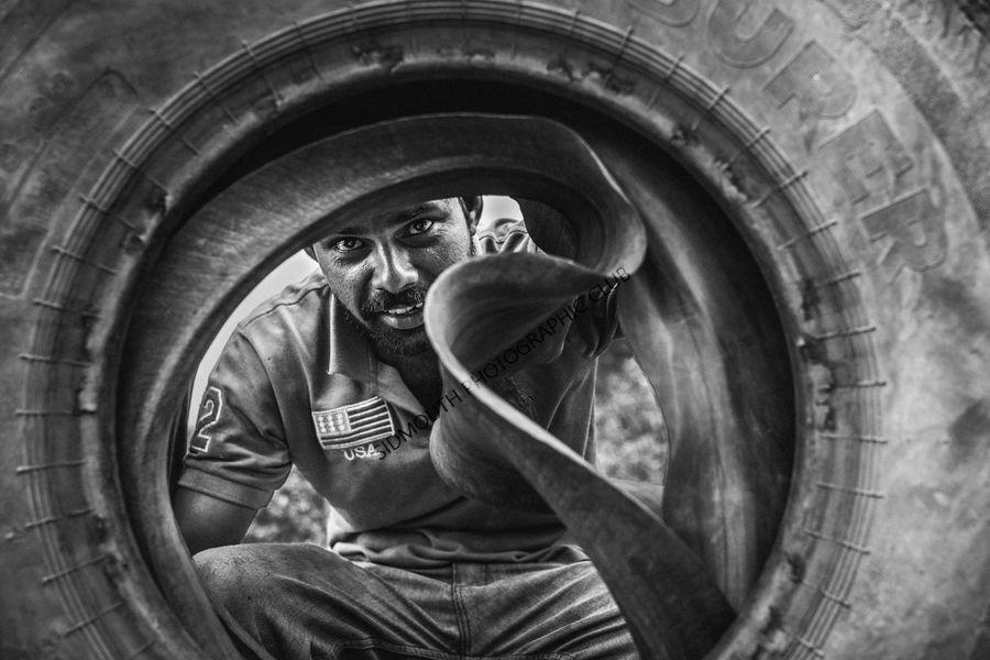 1st-Flat Tyre-Harri Morris