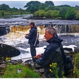 Salmon Fishing in River Easkey