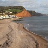 Sidmouth Beach in Winter