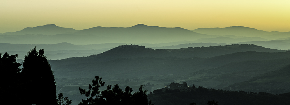 Highly Commended-Sunset over the valley Tuscany-Keith Ridings