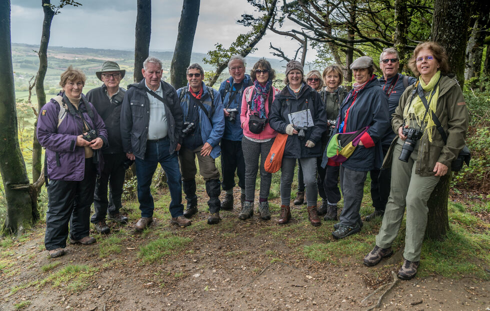 The group at Kebles Seat