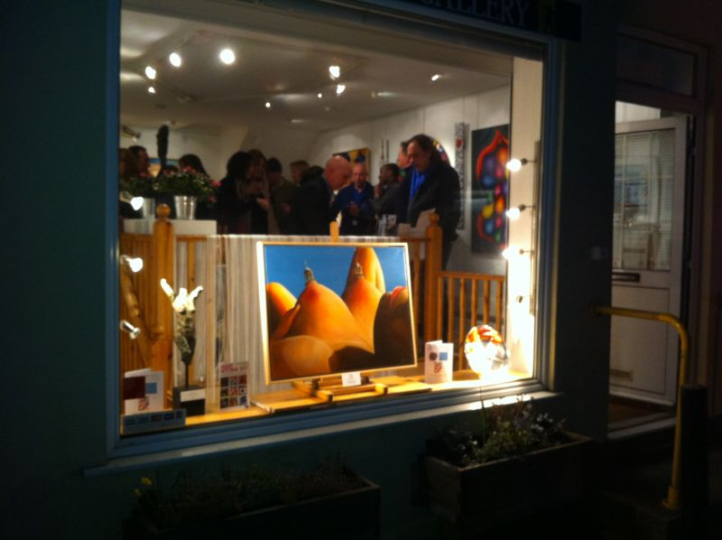 Opening night - private viewing at the Bowman Gallery