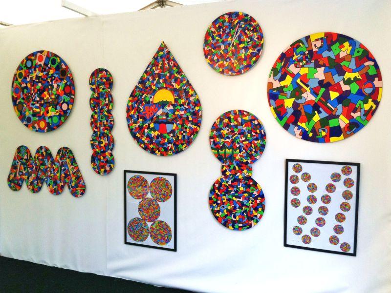 Henley Arts Festival - Riverside Gallery display wall 2