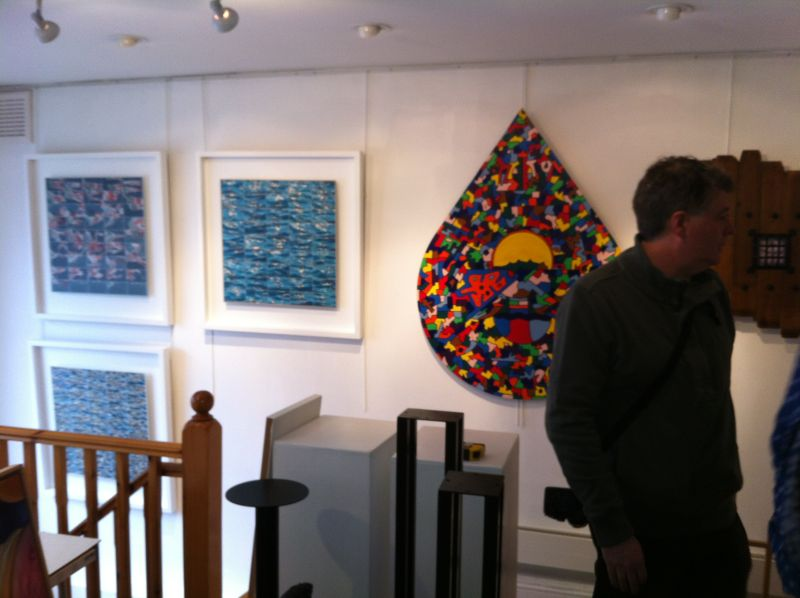 Setting up at the Bowman Gallery