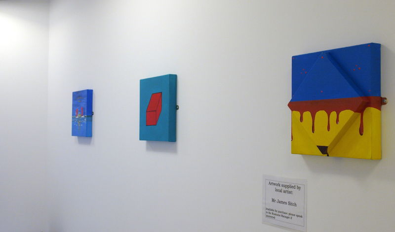 Pieces currently on display in the public areas of Ashford Health Centre