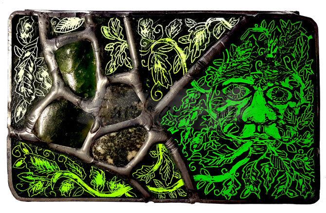 Green Man box lid