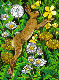 Hare Among the Flowers